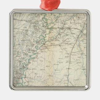 Gen map XX Silver-Colored Square Decoration
