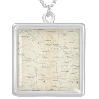 Gen map XXIII Silver Plated Necklace