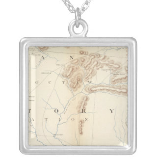 Gen map XXIV Silver Plated Necklace