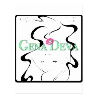 Gena Deva Fashion Postcard
