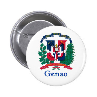 Genao Dominican Shield 6 Cm Round Badge
