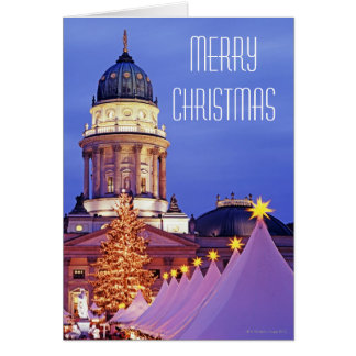 Gendarmenmarkt Christmas Market in Berlin Greeting Card