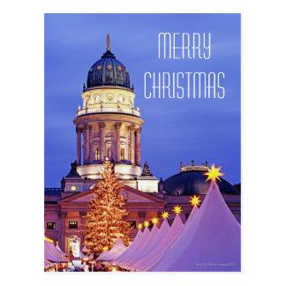 Gendarmenmarkt Christmas Market in Berlin Postcard