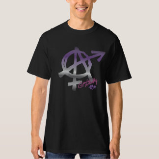 Gender Anarchy (front design) - Ace Colors T-Shirt