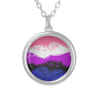 Gender Fluid Ornamental Flag Silver Plated Necklace