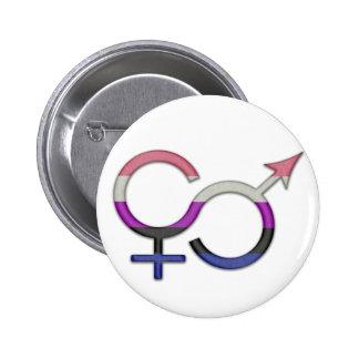 Gender Fluid Symbol 6 Cm Round Badge