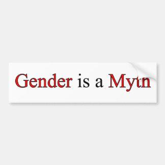 Gender is a Myth Bumper Sticker