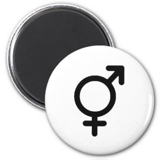 Gender Neutra Black The MUSEUM Zazzle Gifts 6 Cm Round Magnet