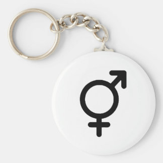 Gender Neutra Black The MUSEUM Zazzle Gifts Basic Round Button Key Ring