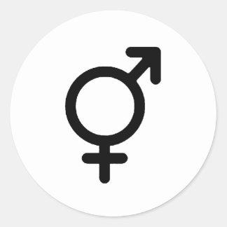 Gender Neutra Black The MUSEUM Zazzle Gifts Classic Round Sticker