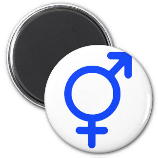 Gender Neutral Blue The MUSEUM Zazzle Gifts 6 Cm Round Magnet