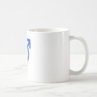 Gender Neutral Blue The MUSEUM Zazzle Gifts Basic White Mug