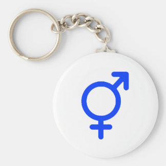 Gender Neutral Blue The MUSEUM Zazzle Gifts Basic Round Button Key Ring