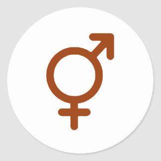 Gender Neutral Brown The MUSEUM Zazzle Gifts Round Sticker