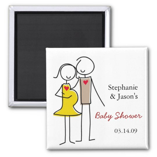 Gender Neutral Coed Baby Shower Magnets