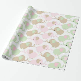 Gender Neutral Cute Baby Elephant Wrapping Paper