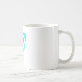 Gender Neutral Cyan The MUSEUM Zazzle Gifts Basic White Mug