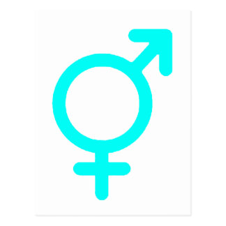 Gender Neutral Cyan The MUSEUM Zazzle Gifts Postcard