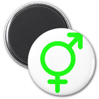 Gender Neutral Green The MUSEUM Zazzle Gifts 6 Cm Round Magnet