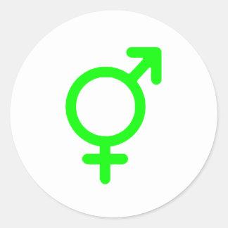 Gender Neutral Green The MUSEUM Zazzle Gifts Round Sticker