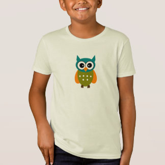 Gender Neutral Kid's Owl Tea T-Shirt