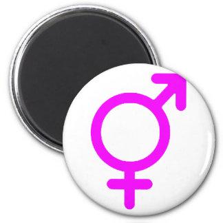Gender Neutral Magenta The MUSEUM Zazzle Gifts 6 Cm Round Magnet