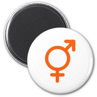 Gender Neutral Orange The MUSEUM Zazzle Gifts 6 Cm Round Magnet