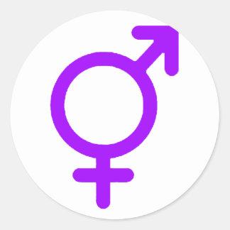Gender Neutral Purple The MUSEUM Zazzle Gifts Round Sticker