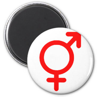 Gender Neutral Red The MUSEUM Zazzle Gifts 6 Cm Round Magnet