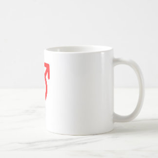 Gender Neutral Red The MUSEUM Zazzle Gifts Basic White Mug