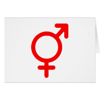 Gender Neutral Red The MUSEUM Zazzle Gifts Greeting Card