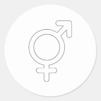 Gender Neutral White The MUSEUM Zazzle Gifts Round Sticker