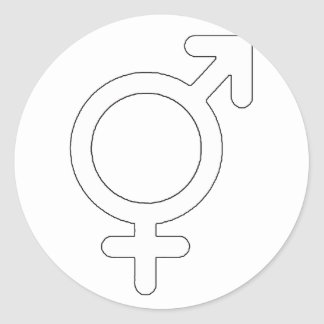Gender Neutral White The MUSEUM Zazzle Gifts Classic Round Sticker