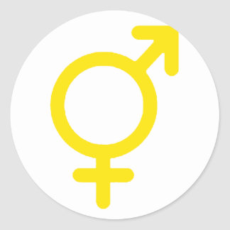 Gender Neutral Yellow The MUSEUM Zazzle Gifts Round Sticker