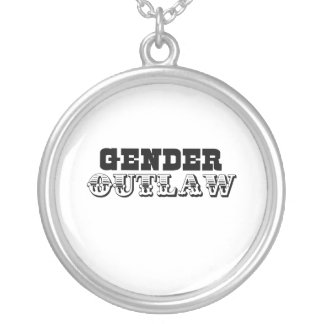 Gender Outlaw.png Round Pendant Necklace