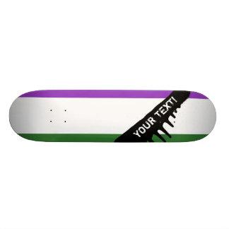 Gender Queer Pride Flag 18.1 Cm Old School Skateboard Deck