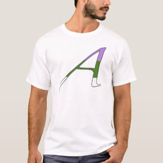 "Gender Queer Pride ""Scarlet"" Letter A T-Shirt"
