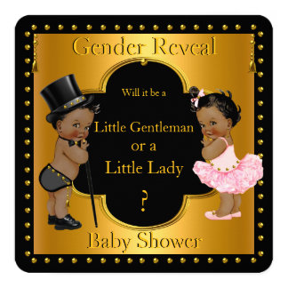 Gender Reveal Baby Shower Boy or Girl Ethnic Card