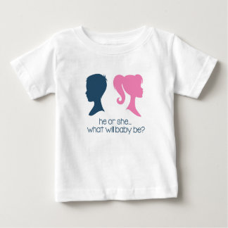 """Gender Reveal Baby Shower """"He or She"""" T-Shirt"""