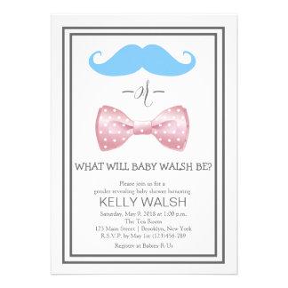 Gender Reveal Baby Shower Invitation Custom Announcement