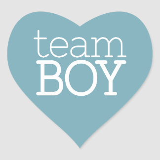 Gender Reveal Baby Shower - Team Blue Boy Heart Sticker