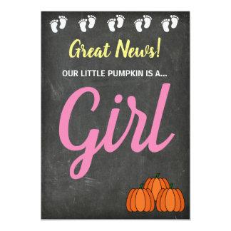 Gender Reveal Fall Pumpkin Announcement