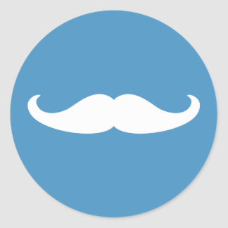 Gender Reveal Mustache Sticker