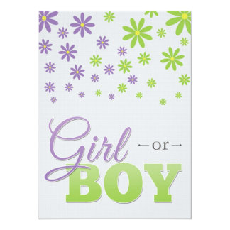 Gender Reveal Party Daisies Invitation