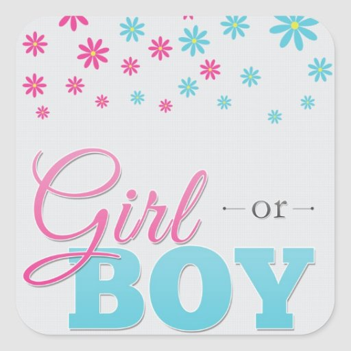 Gender Reveal Party Daisy Stickers