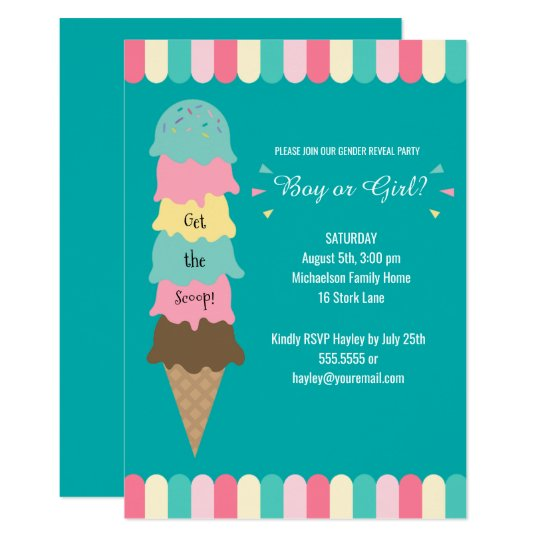 Gender Reveal Party Heres the Scoop Ice Cream