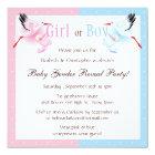 Gender Reveal Party Stork Delivering Baby Card