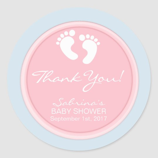 Gender Reveal Pink Blue Baby Shower Gift Favours