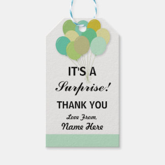 Gender Reveal Thank You Baby Shower Pop Mint Tags