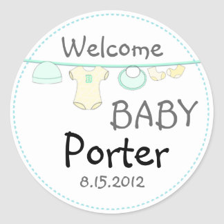 Gender Surprise Baby Shower Round Sticker